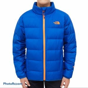 Boys Northface Blue Ande Down Puffer Coat Size XL